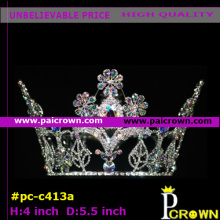 Small GalsangFlower Greenleaf Goddess Pageant Tiara Crown