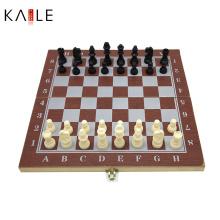 Jeu de jeu d'échecs en bois 3 en 1
