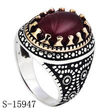 Moda jóias anel de dedo de prata com preço de fábrica