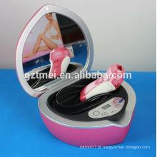 Heart-shaped mini ipl casa remoção de cabelo máquina linda rosa
