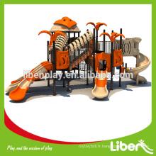 Orange Large Playground Équipement de fitness avec la clôture de jeu