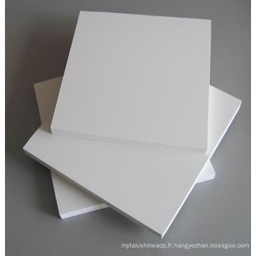 panneau de mousse de PVC de celuka, feuille de PVC avec la surface rigide, panneau de coffret de PVC