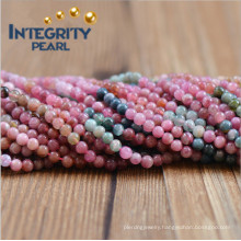 New Arrival Natural Gemstone Loose Strand 3.5mm Natural Red Tourmaline