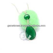 925 Sterling Silver Necklace Onyx Gemstone Necklace Supplier