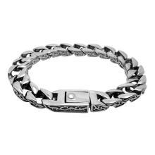 Estilo Retro Vintage inoxidável jóias homens cadeia pulseiras prata