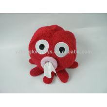 Lovely red octopus toy napkin holder
