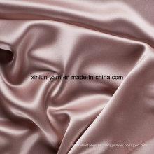 Tela de poliéster gruesa teñida teñida hilado suave y liso de la tela