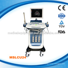 Chrismas promo!!! Trolley Cheap 4D Color Doppler Ultrasound Scanner / 4D Ultrasound pregnancy scanner for sale MSLCU24A
