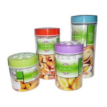 High Quality Glass Jar with Color Lid