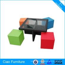 Полихромная Мебель Из Ротанга Обеденный Стол И Стул Набор