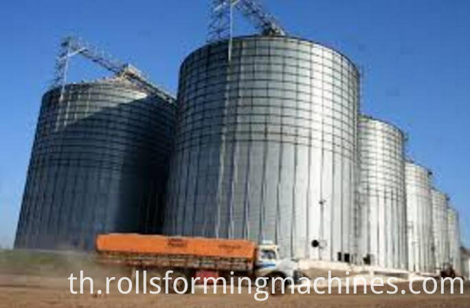 grain storage Curved silo sheet roll forming machine 8