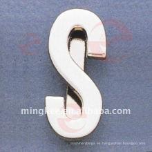 """Hardware de los accesorios de metal de la bolsa """"S"""" de la letra (O34-672A-S)"""