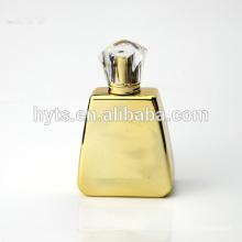 Bouteille de parfum d'or de verre de luxe de 100ml