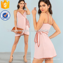 Contrast Binding Wrap Cami Dress Manufacture Wholesale Fashion Women Apparel (TA3208D)