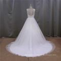 Vestido de novia con flores en el vestido de Novia de cintura