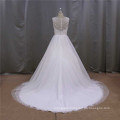 Wedding Dress with Flowers on The Waist Bridal Dress