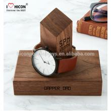 Helfen Sie, werben Sie Ihre Uhr-Marke Schönes Display Custom Made Display Stand Holz für Uhren