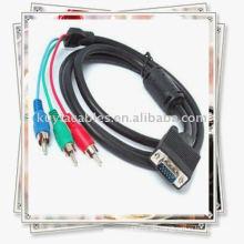 NEUES VGA zu 3 RCA Bestandteilkabel für PC RGB LCD HDTV