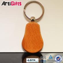Porte-clés en bois de promotion avec logo de voiture de gravure