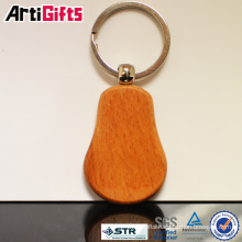 Promotion wooden keychain with engraving car logo