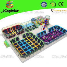 Parque de trampolim interior de diversão comercial para venda