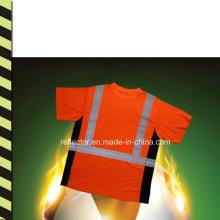 2016reflective Sicherheits-T-Shirt Großhandels-laufendes T-Stück Glänzender Lauf