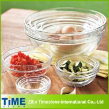 Tazón de vidrio sin plomo para la miel, palomitas y ensaladas (15033003)