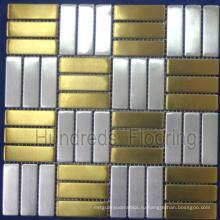 Мозаичная плитка из нержавеющей стали Металлическая мозаика (SM217)