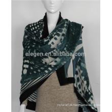 Lenços de lã mercerizados - lenços tingidos xale roubados