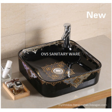 Ceramic black wash basin