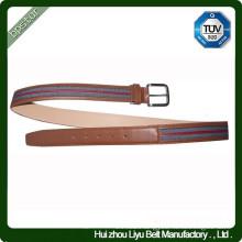 Custom Leather Reversible Fabric Belt