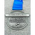 Customized 3D Die Casted Enamel Neck Ribbon String Lanyard Medal