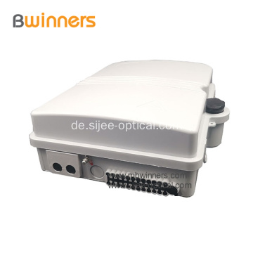 FTTH Outdoor Wasserdichte 8/16 Kern Glasfaser PLC Splitter Distribution Box IP65