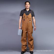 100 % coton Zip manches longues avant Bip de sécurité et vêtements de travail Brace (BLY4002)