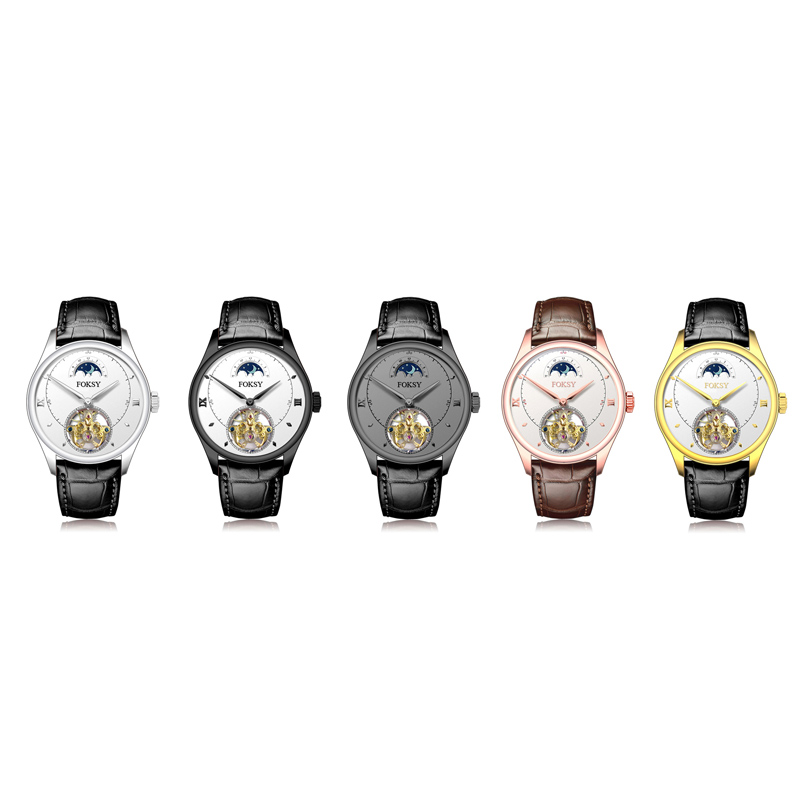 Foksy brand logo automatic watch men