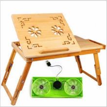 Atacado morden bambu dobrável computador mesa mesa