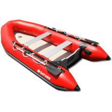 Barco inflável de PVC vermelho rígido