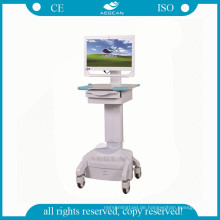 AG-WT002C Medical ABS höhenverstellbar mit Batterie mobilen Computer Krankenschwester Warenkorb