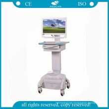 AG-WT002C Medical ABS height adjustable with battery mobile computer nurse cart