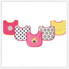 5 Stück Drooler Lätzchen mit wasserdichter Rückseite, Pink Bee