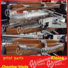 Máquina de impressão com peças de lâmina de doutor de câmara
