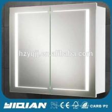 MDF llevó espejo gabinete, diseño moderno PVC baño vanidad