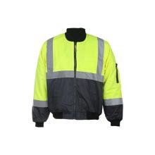 Venta al por mayor 300d Oxford Reflejo Seguridad chaqueta