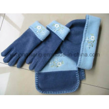 Hot vendendo inverno quente Knitting Lady polares Fleece Set