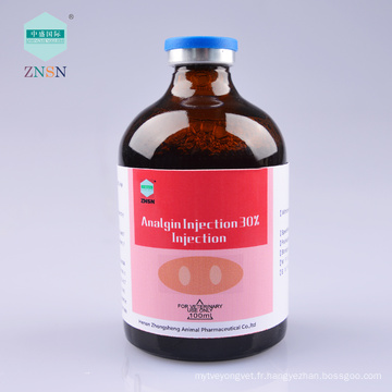 ZNSN injection de médecine animale Analgin Injection 30% Injection