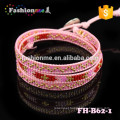 Fitness snap bangle bracelet