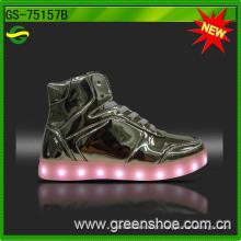 Senhora recarregável LED sapatos mid-cut (gs-75157)