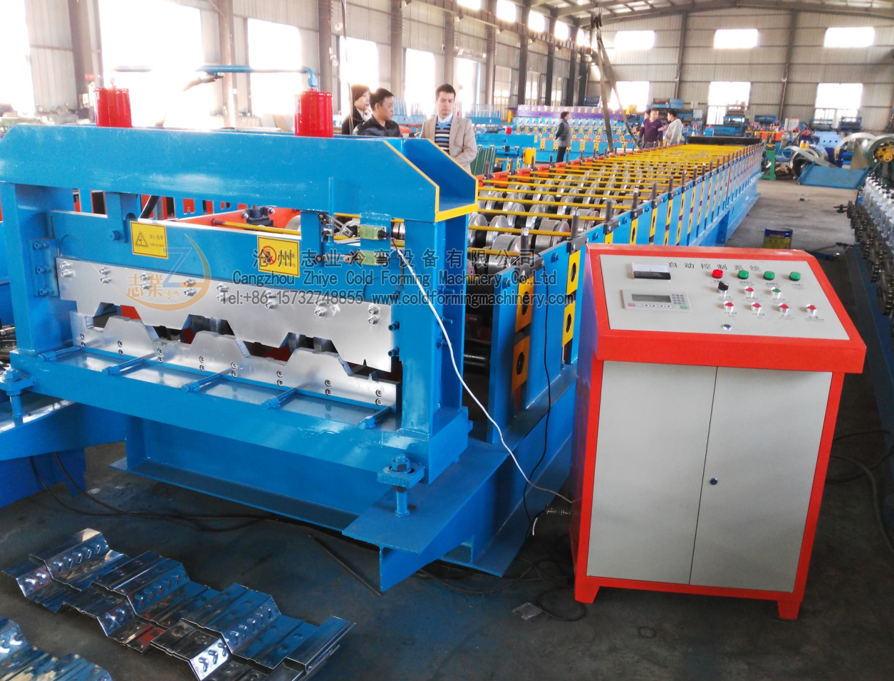steel floor machine