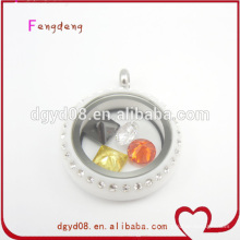 Cheap 25mm high quality plastic locket pendant wholesale