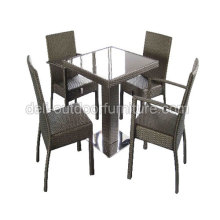 Mesa de Bar al aire libre de mimbre Muebles té silla